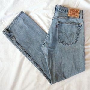 Levi's 505 Light Wash Straight Fit Jeans, Size 32